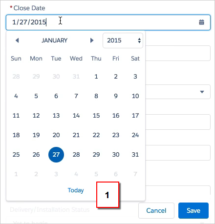 Lightning-experience-date-picker